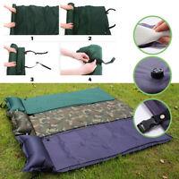 Self Roll Sleeping Bed Inflatable Pillow Air Mattress Bag Camping Mat Cushion