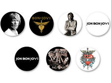Lot Pack Badge Button Ø38mm Jon Bon Jovi Hard Rock US