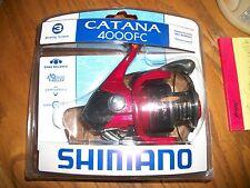 shimano catana 4000FC  Model + Spare spool Red Fishing Reel Gear;BRAND NEW