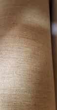 100% Irish  linen buchram beige  buff colour for craft 60cm  width per metre