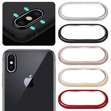 9H Kamera Objektiv gehärtetes Echtglas Schutzfolie + RING Für Apple iPhone X/10