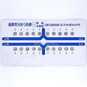 100 Packs Orthodontic Dental Metal Brackets Ultra Thin Edgewise Bracket No Hook
