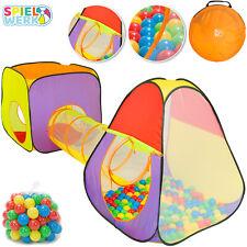 Tienda de campaña de juego con bolas y túnel XL 3en1 piscina de bolas infantil