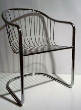 LÜBKE Wire Chair 60er 70er Armlehnstuhl Freischwinger Draht Stuhl Panton Ära