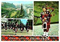 Postcard - THE CASTLE AND PRINCES STREET EDINBURGH SCOTLAND (Ref C41)