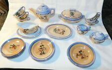 RARE 1930's Disney Mickey & Minnie Mouse 23 Piece Lustre Ware China Tea Set