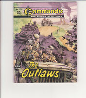 "COMMANDO WAR COMIC NO. 1765 "" THE OUTLAWS"" GOOD CONDITION, 1984"