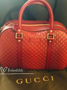 Gucci MicroGuccisima Margaux Rosso Red small Bag 100% authentic and brand new