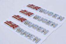 4x 3D Badge Emblem Mugen 無限 Sticker Logo Decal Honda Acura Type R JDM Chrome