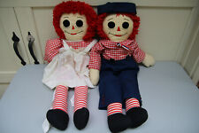 LARGE Raggedy Ann and Andy Dolls 36 inch Quality Handmade