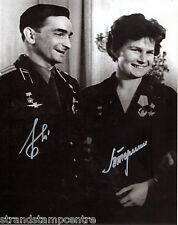 """V.Tereshkova & V. Bykovsky B&W 10""""x 8"""" Signed Photo - UACC RD223"""