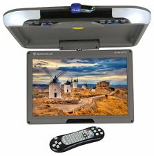 "Rockville RVM13FD-GR 13"" TFT Grey Flip Down Car Monitor w/ USB/SD/Video Games"