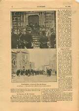 Inventaires Basilique Orcival Puy-de-Dôme Gendarmes France 1906 ILLUSTRATION