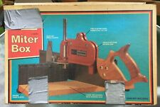 "Vintage No. 36331 Sears CRAFTSMAN Miter Box - 16"" No Saw With Box And Manual"
