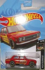 "2019 Hot Wheels Red 71 Datsun 510 Momo Nightburnerz 8/10 ""D"" Case Collector car"