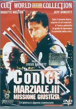 Codice Marziale III, Missione Giustizia (1992) DVD NUOVO Jeff Wincott, B Nielsen