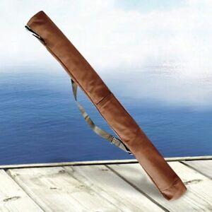 Fishing Rod Cover Bag Foldable Outdoor Travel Tackle Storage Shoulder Backpack