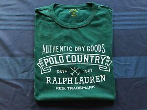 Polo Ralph Lauren MEDIUM Green/Pine Polo Country Authentic Dry Goods Tee Shirt