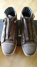 Brown Mens Casual Shoe Brown White Bottom zip up Shoes Sneakers loafers  9US
