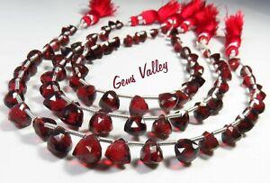 Natural Mozambique Garnet Trillion Briolette Shape Faceted Beads Gemstone GV-918