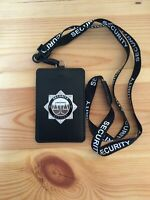 Security Officer Identity / Warrant Card Holder & printed Lanyard