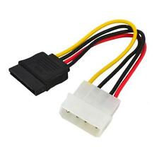 4 PIN IDE MOLEX to 15 Pin SATA Female HDD Hard Drive Adapter Power Cable 20CM 8""