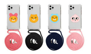 Official KAKAO FRIENDS Color Necklace Phone Case Mobile Crossbody Strap Cover