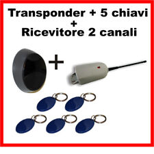 KIT Ricevitore per cancelli automatici + Transponder