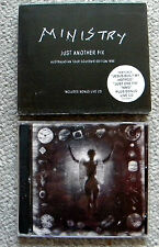 MINISTRY 2 cd SET Just Another Fix Australasian Tour Souvenir Edition 1995 RARE