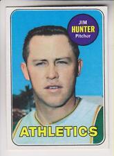 TOPPS 1969 BASEBALL CARD #235 - JIM HUNTER - OAKLAND ATHLETICS