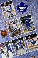 VINTAGE POSTER~Toronto Maple Leafs Starline Original 1990 Wendel Clark Iafrate~