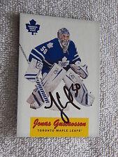Toronto Maple Leafs Jonas Gustavsson Signed 12/13 O-Pee-Chee Retro Card Auto