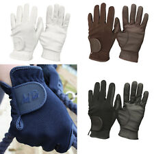 Mark Todd Super Riding Gloves Knitted with Leather Effect Palm Adults Children's