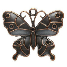 Antique Copper Butterfly Charm Pendant for Necklace