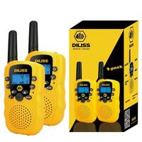 NEW 2-Pack Toy Walkie Talkies for Kids Voice Activated 3 Mile Range 2 Way Radio