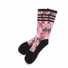 ADIDAS Mens Black Floral Novelty AZELEA Golf Socks UK 11-14 BNWT