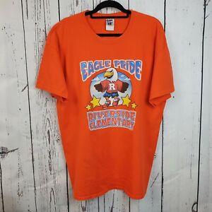 Vintage USA Eagle Pride Elementary School T Shirt Retro American  Size XL
