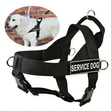 Non Pull Dog Harness Removable Chest Plate & Patches Large Dogs Pit Bull Terrier