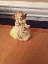 Vintage Josef Originals Birthday Angel girl Figurine Age 5 Five W/sticker