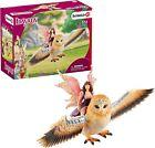 Schleich Bayala Fairy in Flight on Glam-Owl Toy Figure