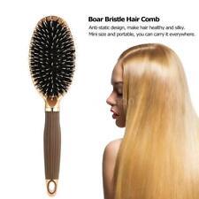 Durable Boar Bristle Hair Brush Anti-Static Puddle Comb Nylon Massage Brush X3B0