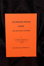 TALISMANS WHICH WORK AND ARE EASY TO MAKE Finbarr Occult  Magic Book Grimoire
