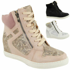 Mid Heel (1.5-3 in.) Wedge Lace Up Synthetic Boots for Women