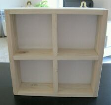CHINEWOOD SHABBY CHIC PIGEON HOLE RUSTIC SHELVING STORAGE UNIT WOOD DISPLAY CASE
