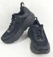 Hoka One One Bondi 6 Womens Wide US Size 8.5 Black Running Shoes Sneakers