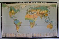 Schulwandkarte muro mapa schulkarte tierra mundo mapa del mundo paisaje World 268x168