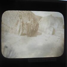 Zulu Children in Kraal Natal South Africa Edwardian Glass Magic Lantern Slide