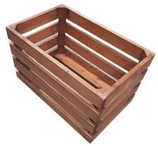4 x Wooden Crates 388mm x 248mm x 230mmH