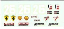 NOS - Dynamic Models Slot Car Vintage Water Decal sheet - 1/24 Ferrari