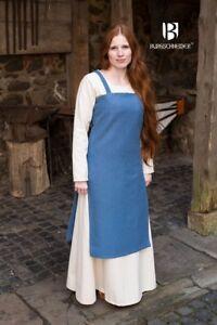 Medieval Strap Dress Overdress Dress Viking - Sea Blue From Burgschneider